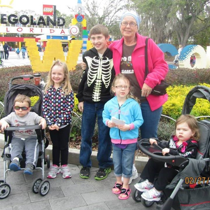 Colleen Toneff with grandkids at Legoland